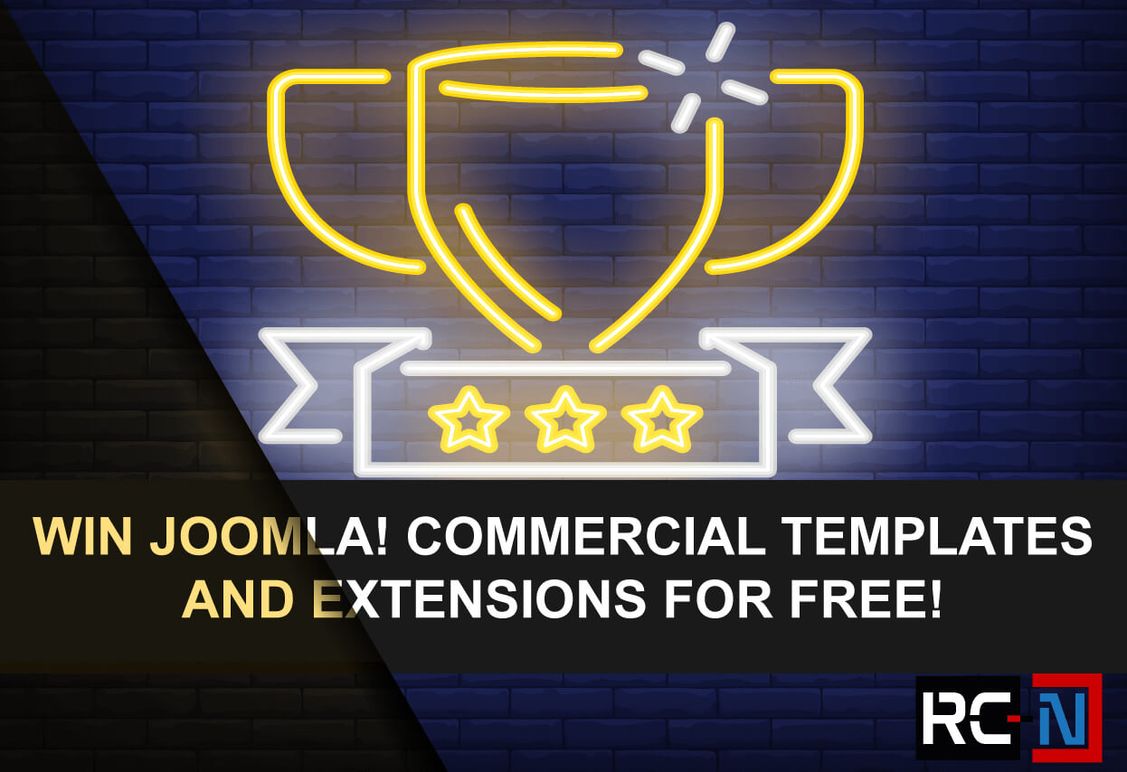 Win commercial Joomla 3 templates and components for free.