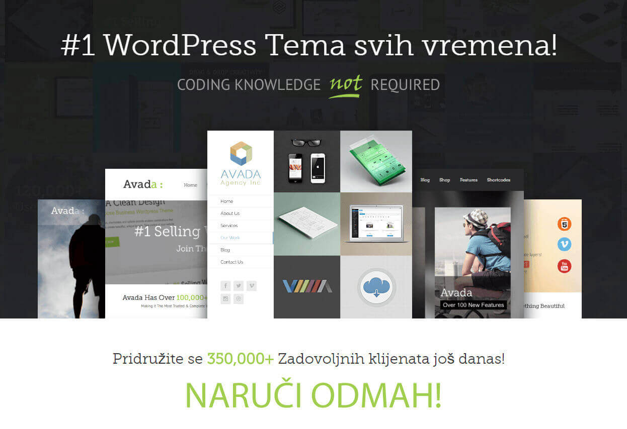 ThemeFusion Avada savršena WordPress tema